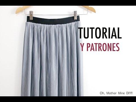 Como hacer falda plisada para mujer (patrones gratis)