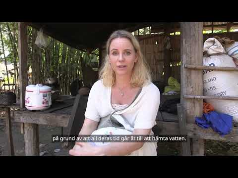 Sofia Helin med WaterAid i Kambodja