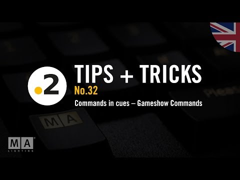 dot2 tips and tricks No32 commands in cues  Gameshow Commands