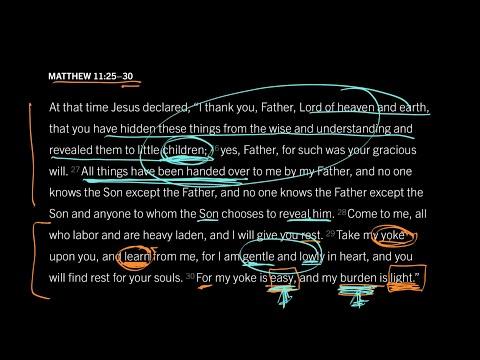 Matthew 11:25–30 // Part 7 // Is His Yoke Really Easy?