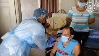 Grupo vulnerable de pacientes encamados en San Carlos reciben vacuna contra COVID