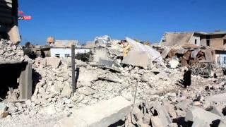 دمار في مدينة مارع بريف حلب جراء قصفها بطيران الاحتلال الروسي