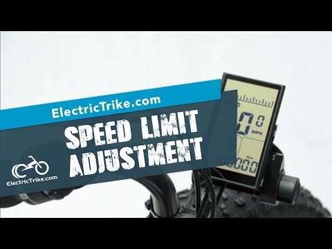 ElectricTrike.com Speed Limit Settings