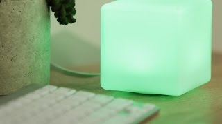 The Orbnext LED cube offers a color-coded cloud
