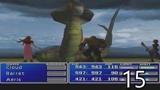 Final Fantasy VII Walkthrough Part 15 - Midgar Zolom Battle HD