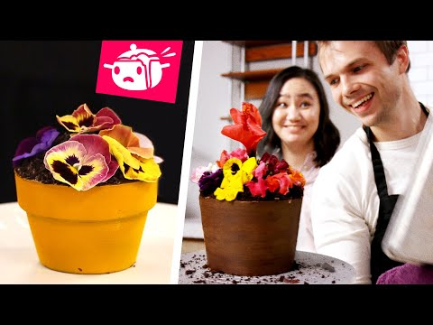 We Tried To Re-Create This Flower Pot Cake ? Eating Your Feed ? Tasty