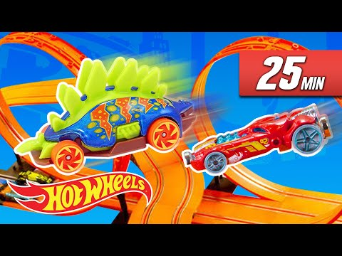 The Best of Fast Track Experiments! Epic Chain Reactions! | Fast Track | Hot Wheels