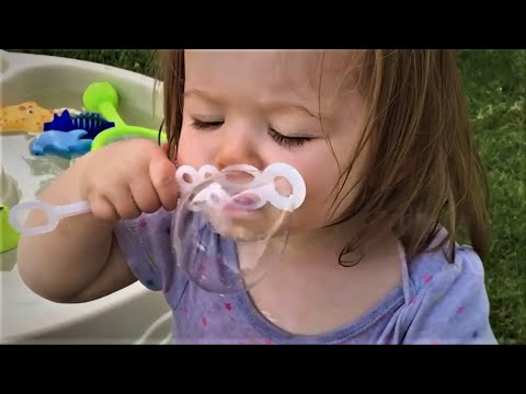 Cute Babies Blowing Bubbles   Funniest Home Videos