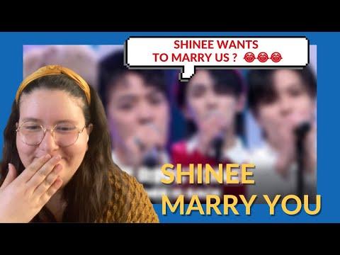 Vidéo REACTION À SHINEE  MARRY YOU REACTION FR  je suis trop excitée