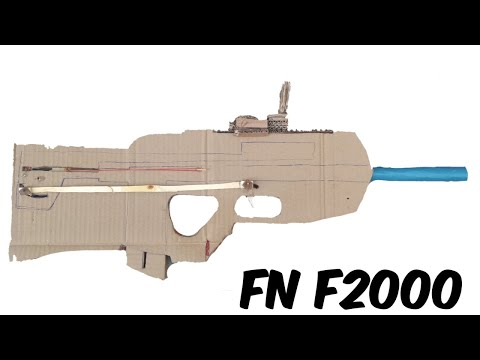 How to make Cardboard FN F2000 that SHOOTS