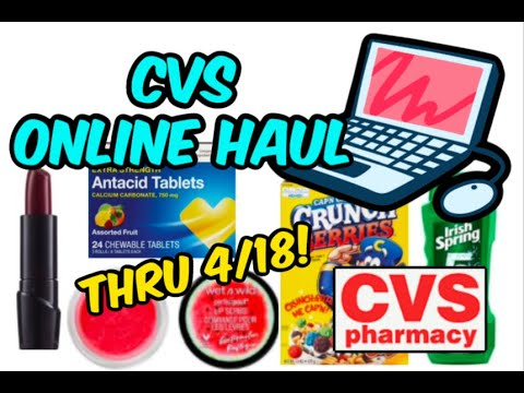 CVS ONLINE COUPON HAUL | CEREAL, BODY WASH, MAKEUP & MORE!