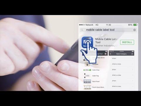 ¿Cómo descargar la app Mobile Cable Label Tool de Brother?
