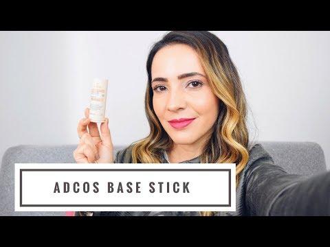 Resenha Adcos base stick filtro solar com cor