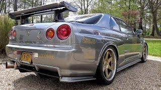 Nissan Skyline R34 GT-R – Revs  Accelerations!