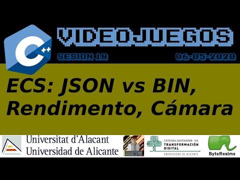 C++ : Cámara, Rendimiento y JSON vs BIN [Videojuegos 2. S17. Ing. Multimedia. Universidad Alicante]