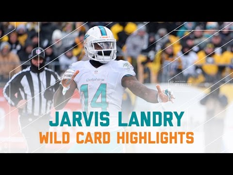 Jarvis Landry 11 Catches for 102 Yards! | Dolphins vs. Steelers | NFL Wild Card Player Highlights