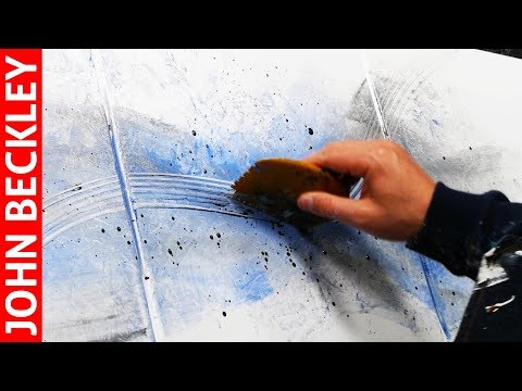 Abstract Art Painting Demonstration With Acrylics and Masking Tape | Pink