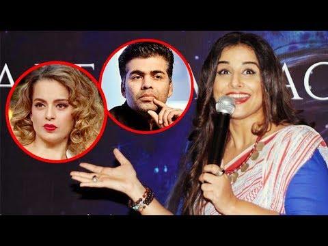 Vidya Balan Makes FUN Of Kangana & Karan Johar Over Nepotism Controversy