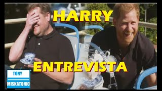 PRÍNCIPE HARRY EN ENTREVISTA CON JAMES CORDEN EN CBS. OPRAH DICE QUE SU ENTREVISTA ES MEJOR.