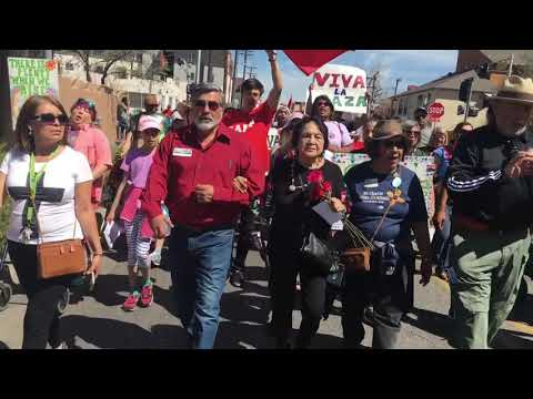 Dolores Huerta at the César Chávez Day March for Justice