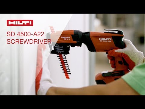 OVERVIEW of Hilti's SD 4500-A22 cordless 22V drywall screwdriver