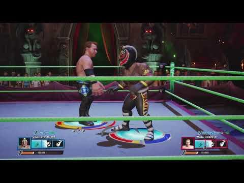 WWE 2K Battlegrounds Rey Mysterio VS Chrlstlan