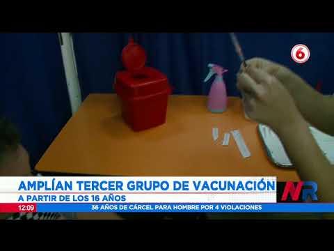 Amplían tercer grupo de vacunación contra Covid 19: A partir de los 16 hasta 58 años de edad