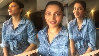 The Gorgeous Shruti Haasan LIVE Chat With Fans & Friends | Quarantine Home - RAJSHRITELUGU