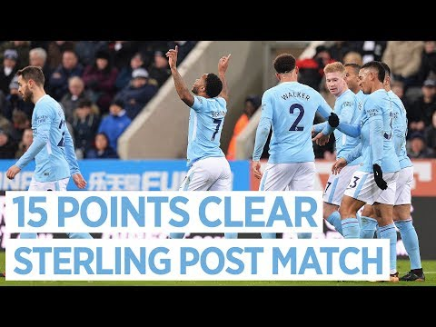 18 WINS IN A ROW   NEWCASTLE 0-1 Man City   Raheem Sterling Post match Interview