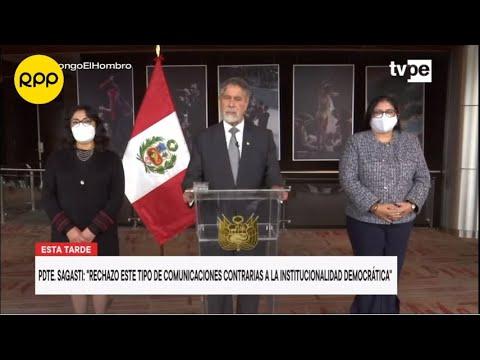 """Francisco Sagasti: """"Las FF.AA. no son deliberantes en una democracia"""""""