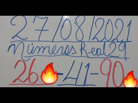 NUMEROS PARA HOY 27/08/21 DE AGOSTO PARA TODAS LAS LOTERIAS¡¡¡¡¡NUMEROS REAL 29 PARA HOY