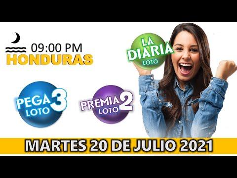 Sorteo 08 PM Loto Honduras, La Diaria, Pega 3, Premia 2, Martes 20 de julio 2021 |