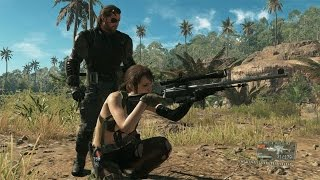 60 FPS Metal Gear Solid 5: The Phantom Pain Quiet Jungle Gameplay Demo - TGS 2014