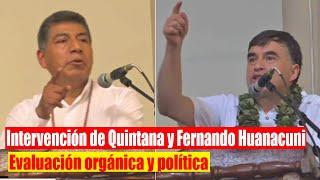 ???? Contundente Juan Ramón Quintana y Huanacuni en el Ampliado de evaluación orgánica Política Bolivia
