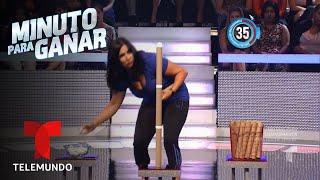 Paola hace una torre con huevos y cartón | Minuto para Ganar | Telemundo