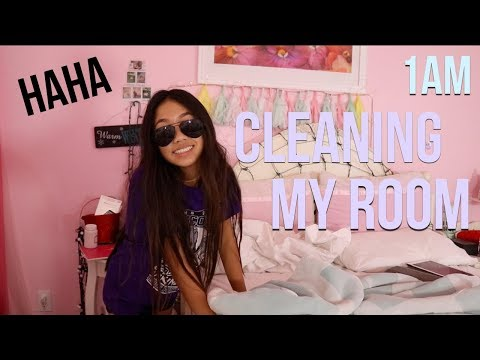 CLEANING MY ROOM AT 1AM?!