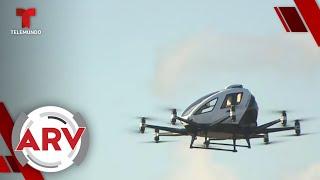 Ponen a prueba primer taxi aéreo con apariencia de un dron   Al Rojo Vivo   Telemundo