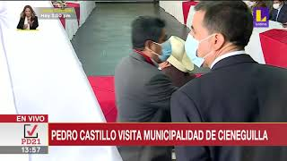 ???? Pedro Castillo visitó la Municipalidad de Cieneguilla