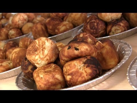connectYoutube - Æbleskiver Eating Championship (World Record Set!!)