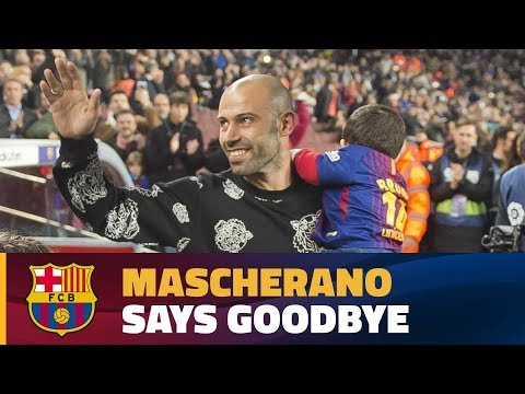 Camp Nou says #ThankYouMasche