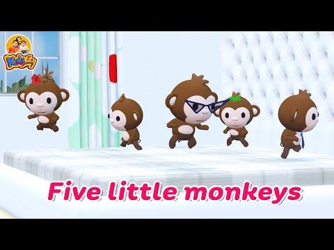 Five-Little-Monkeys-|-เพลงลิง-