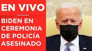 Joe Biden en Capitolio: Ceremonia en honor a oficial de policía asesinado