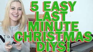 5 EASY LAST MINUTE CHRISTMAS GIFTS [Swords & Stitches]
