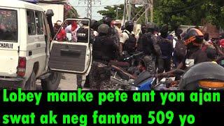 Men Koman Yon Ajan Swat, te kanpe poul pete bal sou yon manm Fantom 509, bagay la te manke gate wi.