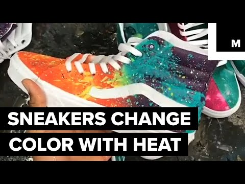 This Artist Paints Sneakers with Temperature-Sensitive Dye