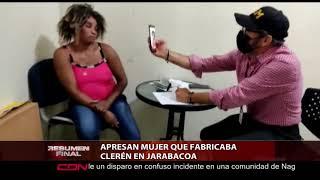 Apresan mujer que fabricaba clerén en Jarabacoa