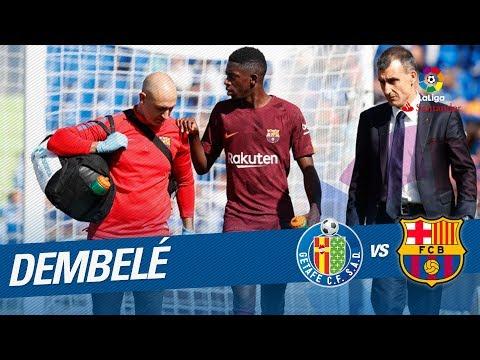 La lesión de Ousmane Dembélé en el Getafe CF vs FC Barcelona
