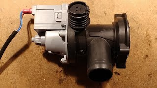 Washing machine pump teardown.
