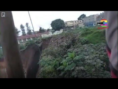 Reportan derrumbes en sector de ciudad Peronia