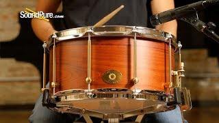Noble & Cooley 7x14 SS Classic Beech Snare Drum, Burgundy—Quick 'n' Dirty